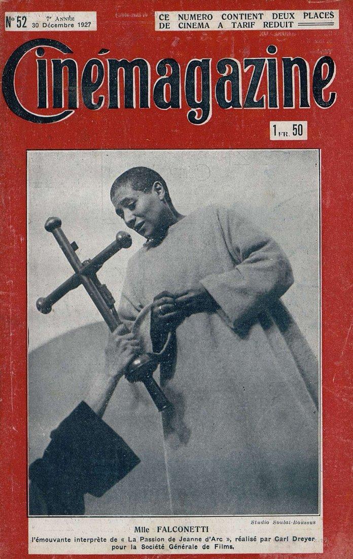 Falconetti (Cinémagazine du 30 décembre 1927)