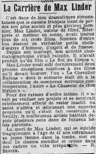 La Presse daté du 2 novembre 1925