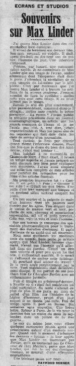 La Presse daté du 19 décembre 1925