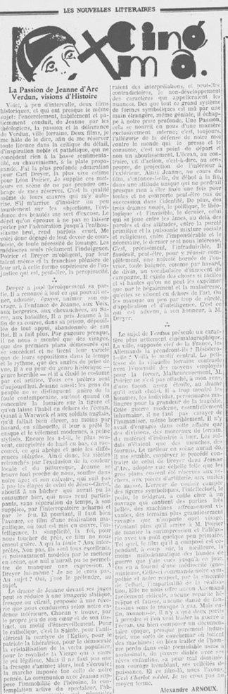 Les Nouvelles Litteraires du 17.11.1928