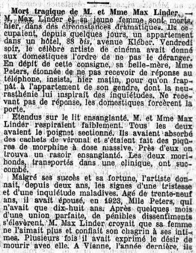 Le Temps du 2 novembre 1925