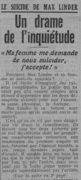 Paris Soir du 2 novembre 1925
