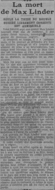 Paris Soir du 3 novembre 1925