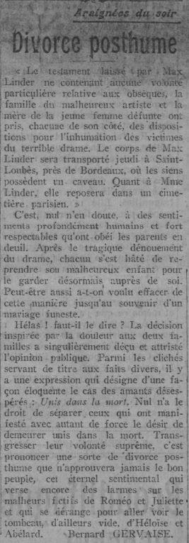 Paris Soir du 5 novembre 1925