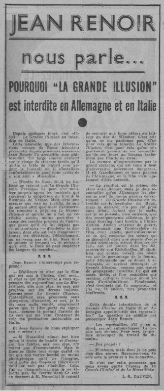 Ce Soir du 16 décembre 1937