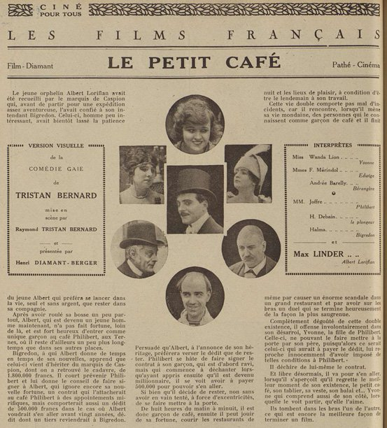 Ciné Pour Tous le 20 décembre 1919