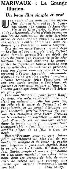 Le Figaro du 11 juin 1937