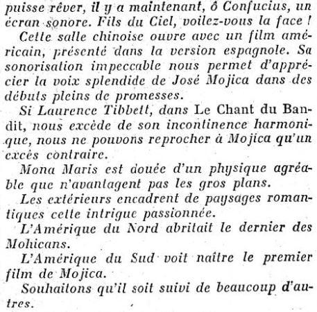 Le Figaro du 22 février 1931