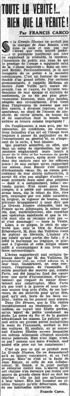 Le Figaro du 28 juin 1937