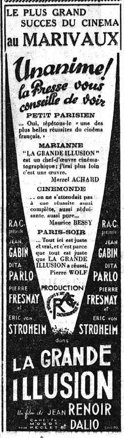 Le Figaro du 31 aout 1937