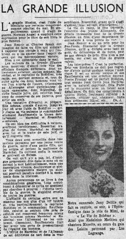Le Populaire du 11 juin 1937