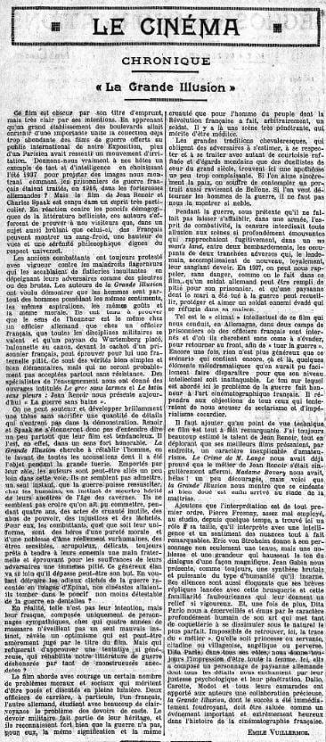 Le Temps du 20 juin 1937