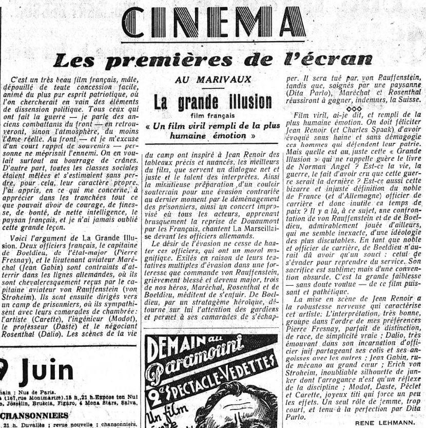 L'Intransigeant du 10 juin 1937