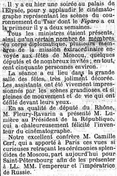 Le Figaro du 11 juillet 1896