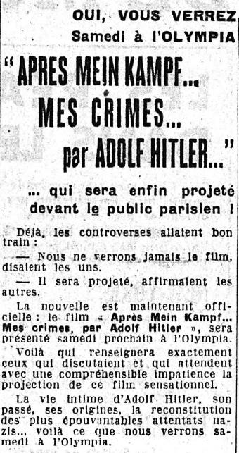 Le Figaro du 14 mars 1940