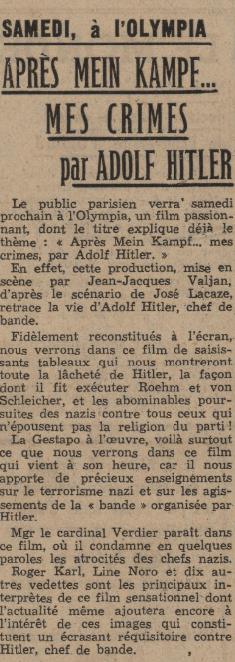 Le Journal du 06 mars 1940