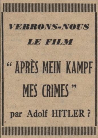 Le Journal 10 mars 1940