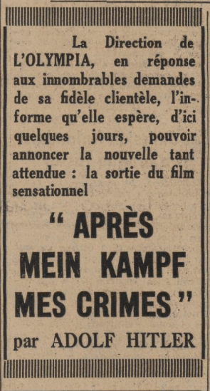 Le Journal 11 mars 1940