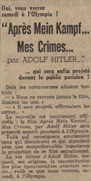 Le Journal du 13 mars 1940