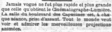 Le Petit Parisien du 09 mars 1896