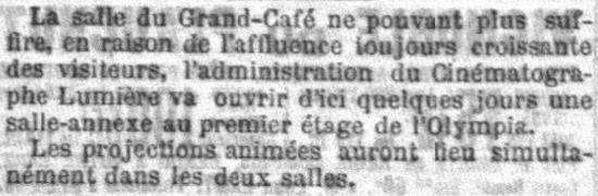 Le Petit Parisien du 14 mars 1896