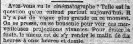 Le Petit Parisien du 16 février 1896