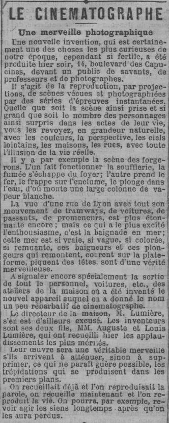 Le Radical du 31 décembre 1895