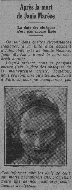 Comoedia du 18 août 1931