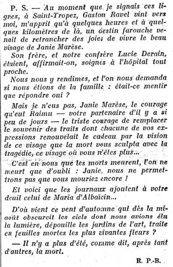 Le Figaro du 23 août 1931