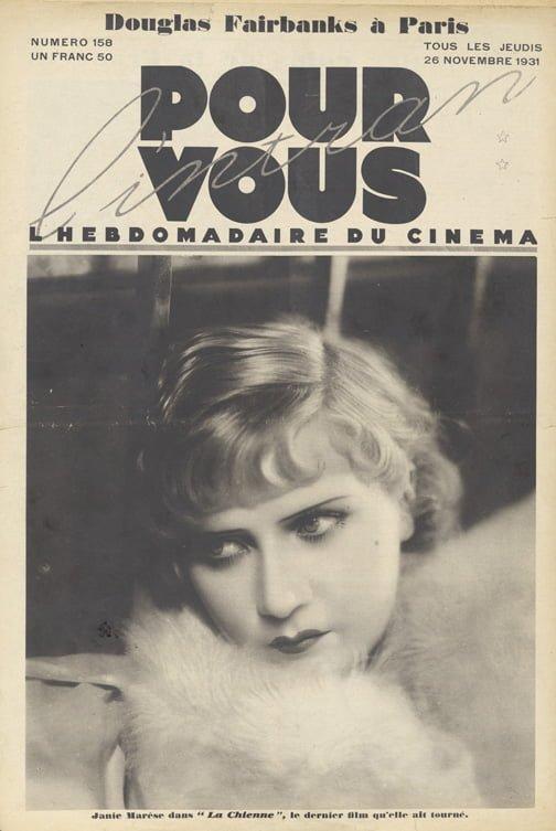 Pour Vous du 26 novembre 1931