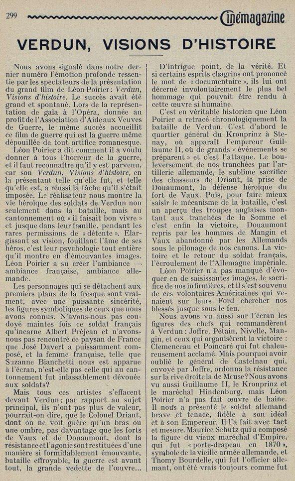 Cinémagazine du 16 novembre 1928