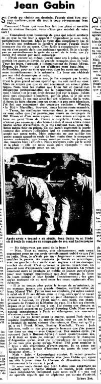 Match L'Intran du 15 novembre 1932