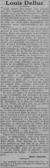 Paris-Soir du 25 mars 1924