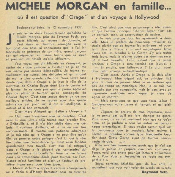 Pour Vous du 15 décembre 1937