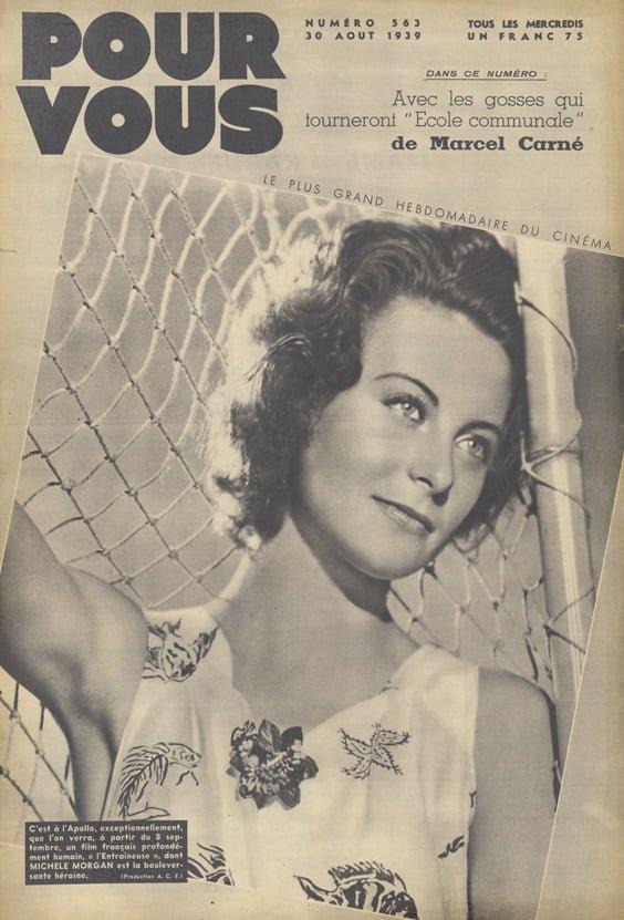Pour Vous du 30 août 1939