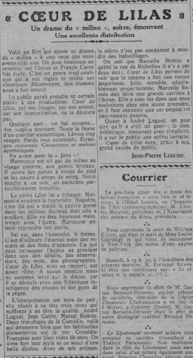 Comoedia du 10 février 1932