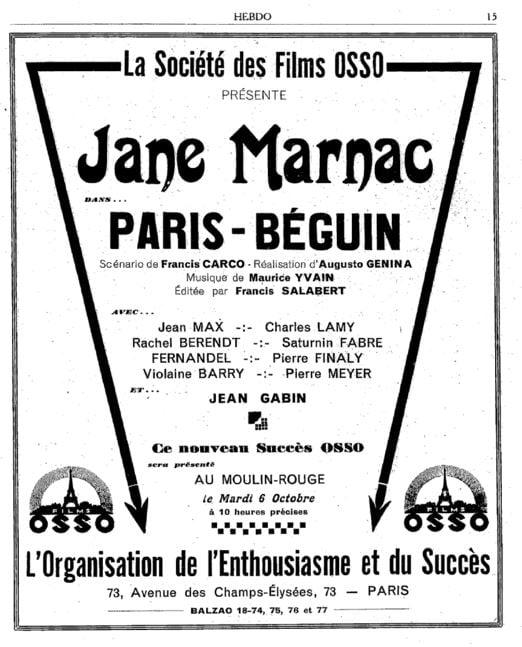 Hebdo-Film du 26 septembre 1931