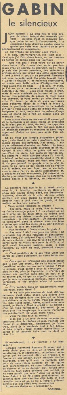 Pour Vous du 7 janvier 1937