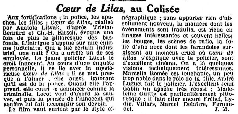 La Semaine à Paris du 11 février 1932