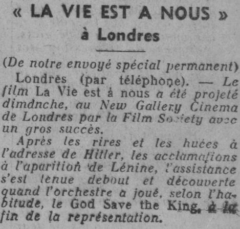 Ce Soir du 21 avril 1937