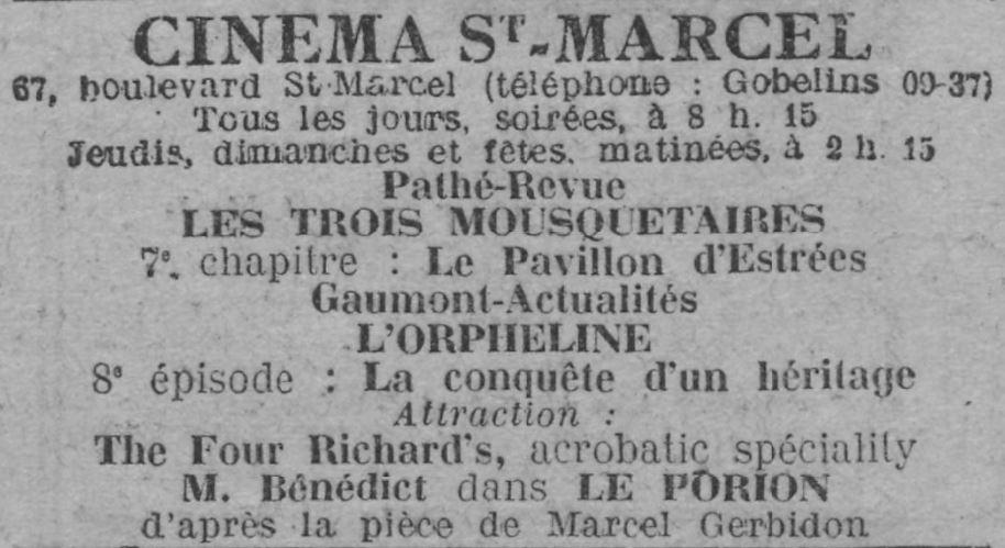 Comoedia du 2 décembre 1921