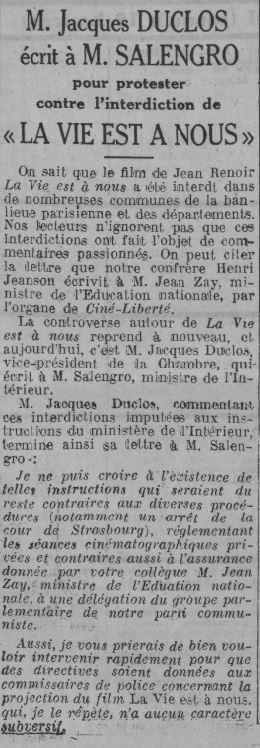 Comoedia du 21 septembre 1936
