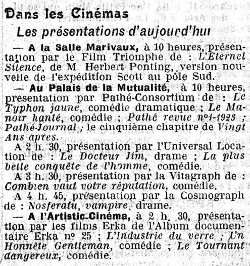Le Gaulois du 22 novembre 1922