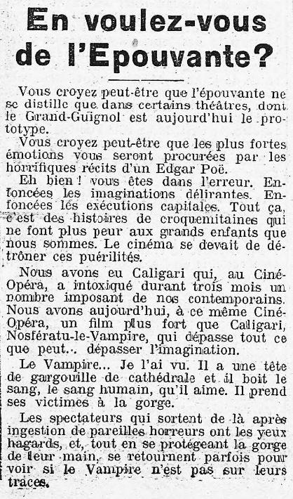 La Presse du 29 octobre 1922