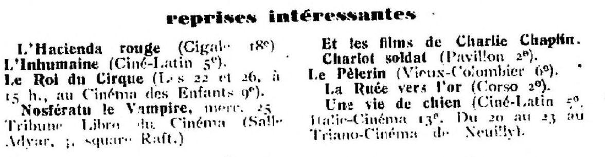 La Semaine à Paris du 20 janvier 1928
