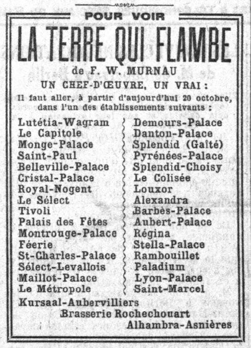 Le Petit Parisien du 20 octobre 1922