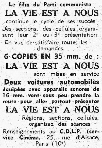L'Humanité du 09 mars 1937