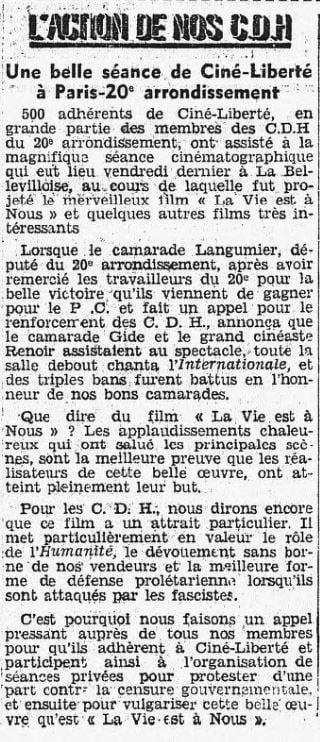 L'Humanité du 11 mai 1936