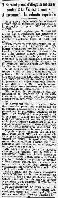 L'Humanité du 17 mai 1936