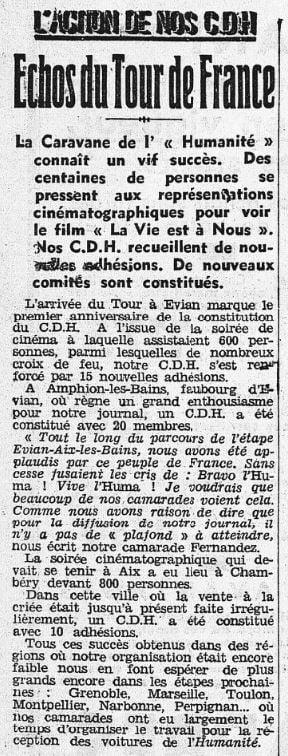 L'Humanité du 17 juillet 1936